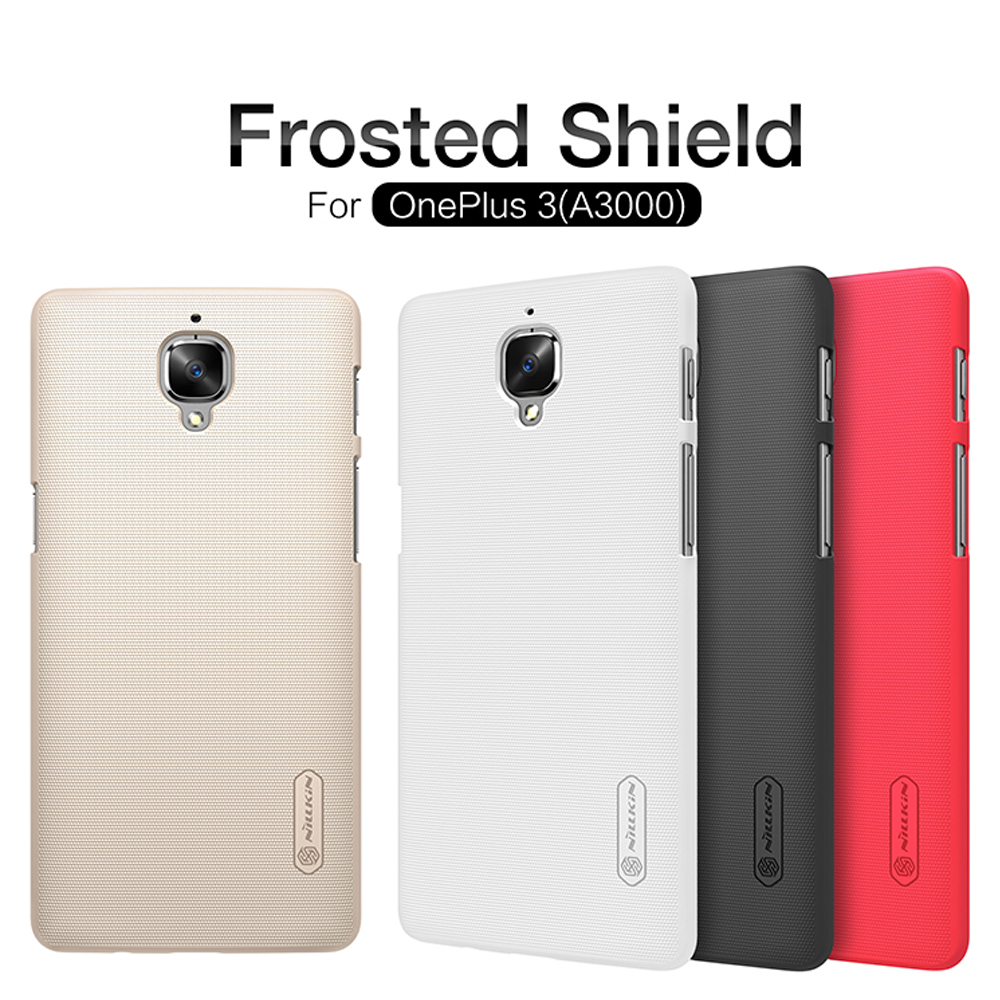 OnePlus 3 Case Nillkin Frosted Shield Hard Armor Back Cover Matte Case For OnePlus 3T A3000