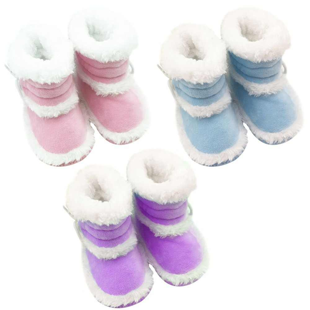 0-18 Months Toddler Baby Winter Warm Booties Girls Boy Soft Sole Boots Crib Infant Shoes Prewalkers New