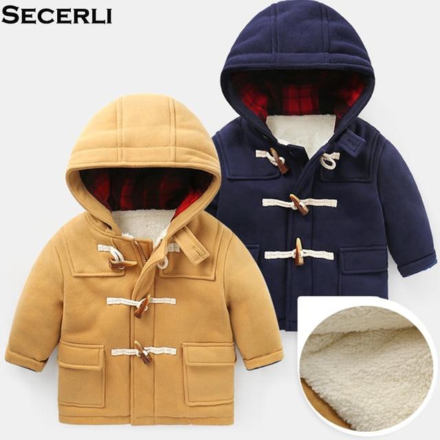 Cheap Children Outwear Coats Kids Boys Winter Parkas 2 to 8years Baby Boys Winter Coat Thick Velvet Padded Warm Kids Winter Jacket