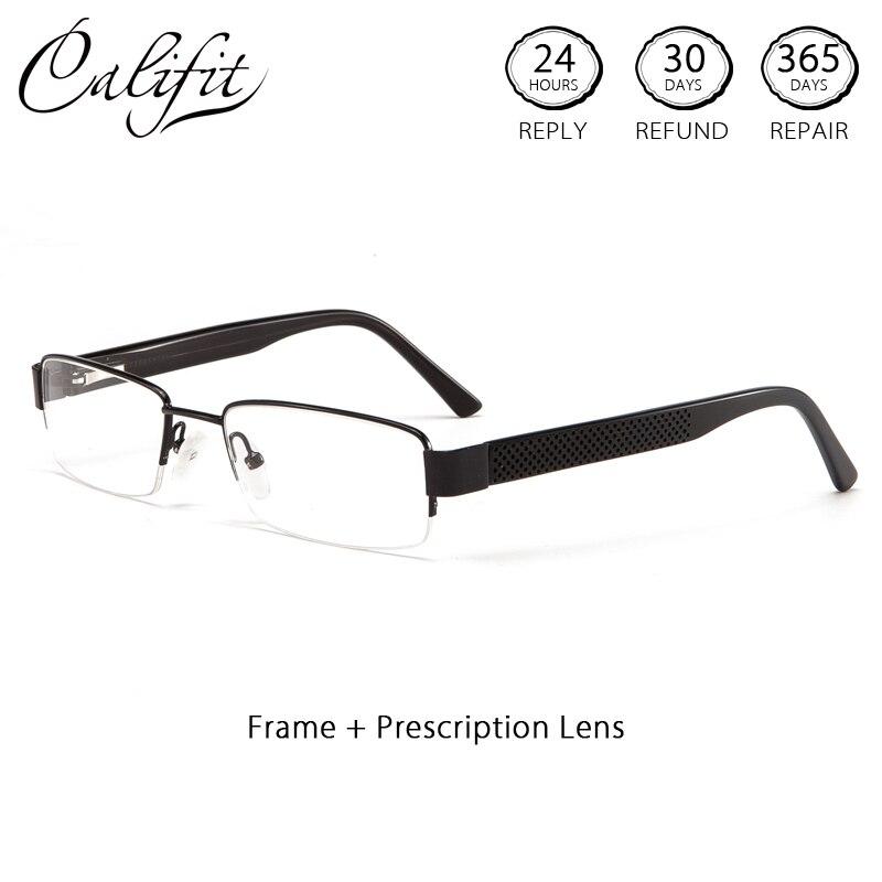 Bekleidung Zubehör Califit Rechteck Klar Optische Gläser Männer Halb Rahmen Progressive 1,56 Photochrome Linsen Absolvierte Gläser Gafas De Hombre