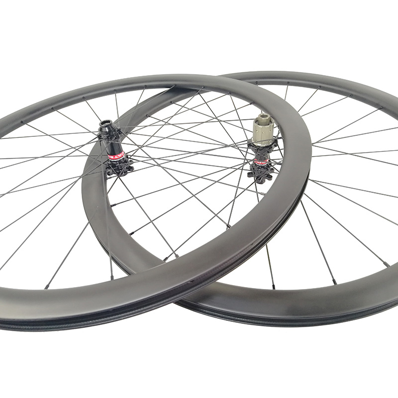 700C carbon bike disc brake wheels 38mm 45mm 50mm Tubeless compatible Clincher Cyclocross bicycle wheelset 12x100mm