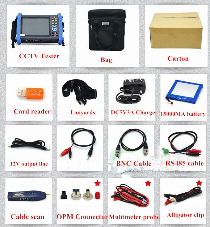 good quality touch screen IP camera tester IPC8600 7 multi-function cctv tester from asmile