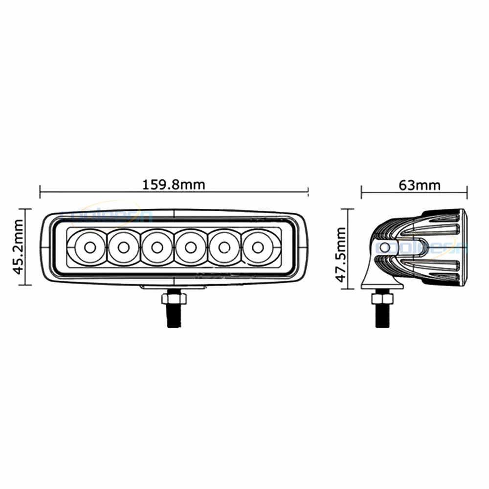 12 В 24 в автомобильный светодиодный светильник 18 Вт, автомобильная Рабочая лампа, лодка, автомобильная лампа с верхней головкой, 2000лм, IP67, водонепроницаемый прожектор, светильник, Точечный светильник s 6000K
