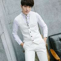 Formal men vest customized size and color all kinds of occasions business man waistcoat single-breasted v-neck vest