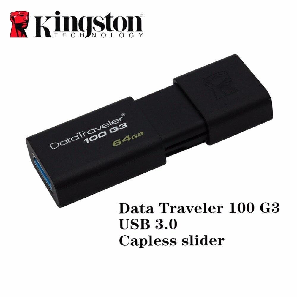 Usb 3,0 de Kingston flash pen drive pendrive stick 16gb 32gb 64gb 128gb de memoria mini usb pen-drive caneta de memoria Coche