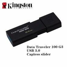 Kingston usb 3,0 флеш-накопитель Флешка-ручка 16 Гб оперативной памяти, 32 Гб встроенной памяти, 64 ГБ 128 бренд memoria миниатюрный usb флеш-накопитель полный привод caneta карта памяти, носитель