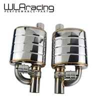 Left or Right Stainless Steel 2.5\ or 3\ Slant Outlet Tip Inlet Weld On Single Exhaust Muffler with different sounds  Dump Valve