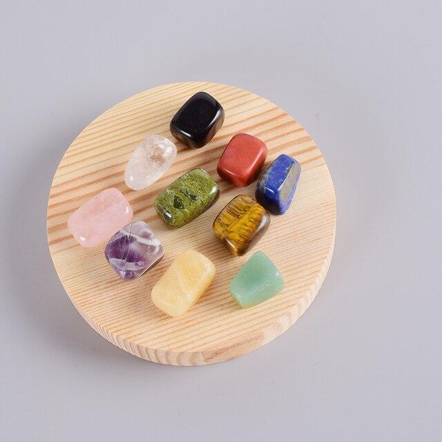 Piedras preciosas de piedra rodada Natural 10 unidades por caja piedra de pulido Irregular piedra de