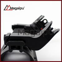Tactical 45 Degree Offset Back Up Iron Sights Rapid Rifle RTS Sight Metal 20mm Free Shipping