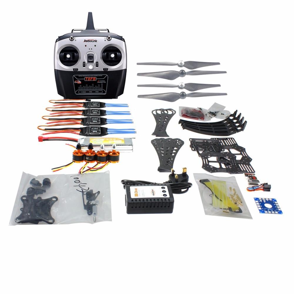 F14892-I DIY RC Drone Quadrocopter RTF X4M360L Frame Kit QQ Super Radiolink T8FB 8CH Teansmitter Gimbal f14892 f diy rc drone quadcopter rtf x4m360l frame kit with qq super flight control motor esc flysky fs i6 transmitter battery