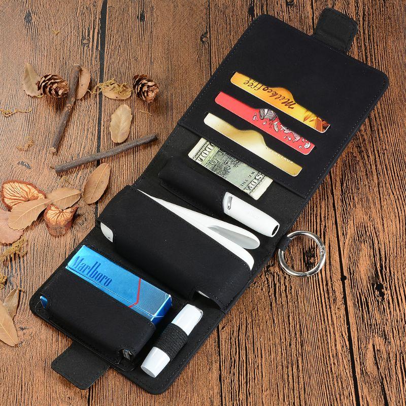 Protective Case Carrying Storage Bag Flip Cover Wallet Card Holder Magnetic For IQOS 3.0 E-cigarette Electronic Cigarette