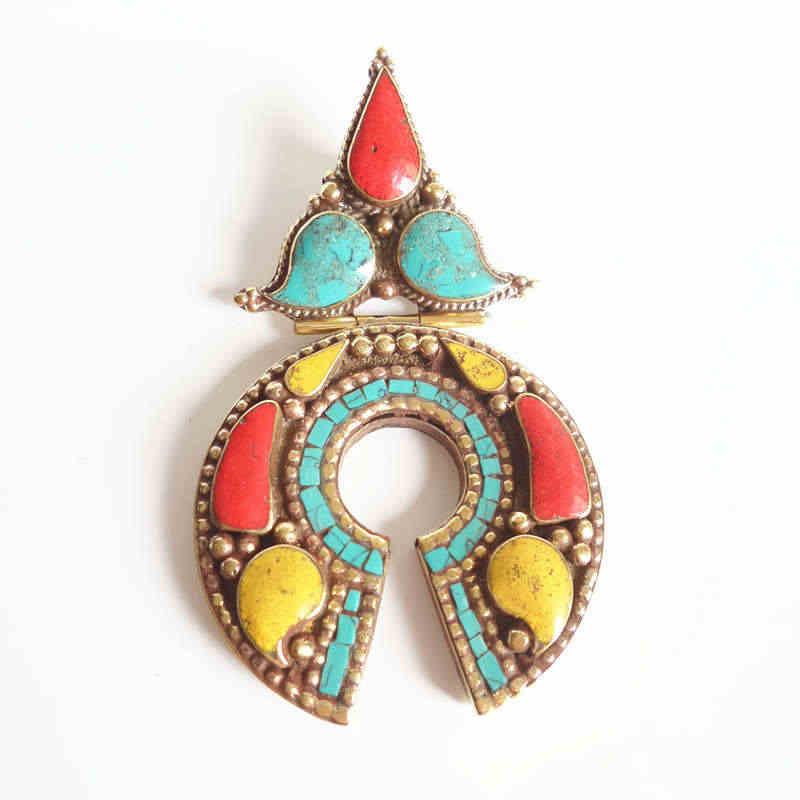6c18150e483b TBP746 joyería Vintage india con incrustaciones de cobre colgantes ...