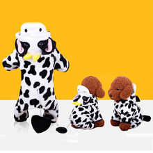 Cute Cow Transfiguration Dog Coat Jumpsuits Pet Clothes For Small Dogs Chihuahua Winter Warm Puppy Outfit Costume Xs Xl