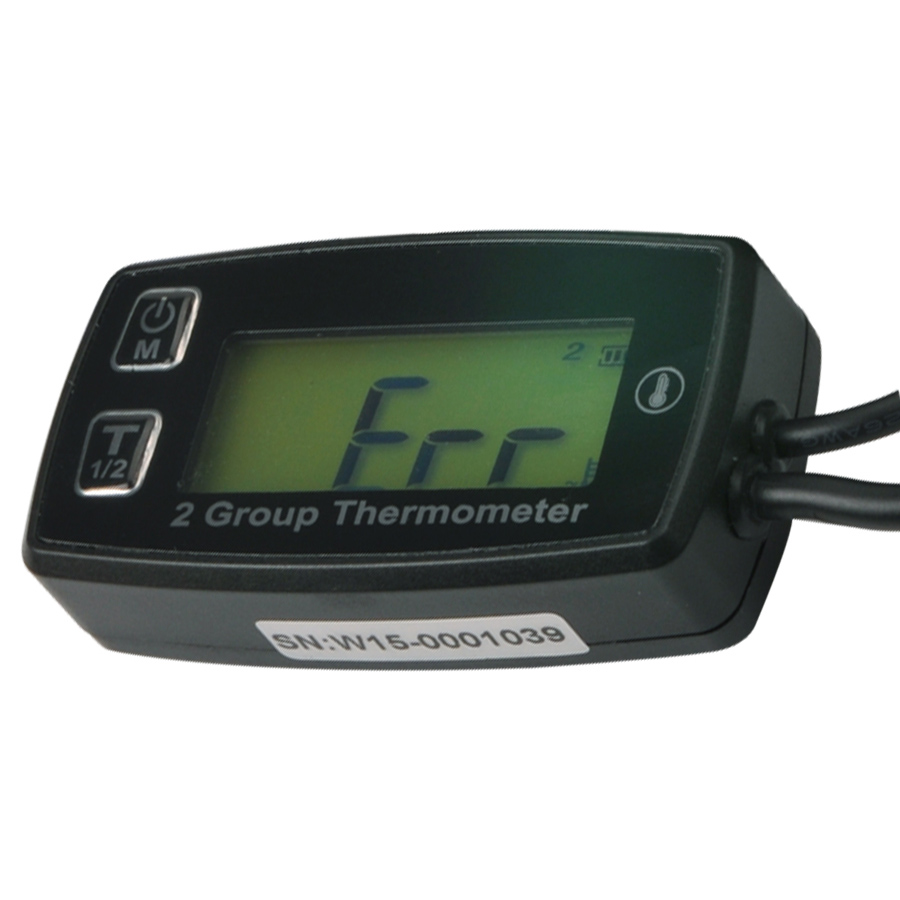 Runleader RL-TM004 Digital 2 TEMP METER thermometer temperature meter for Dirt Pit Bike Motorcycle DIRT BIKE ATV MARINE BOAT oil запчасти и аксессуары для мотоциклов runleader lcd rl hm016b