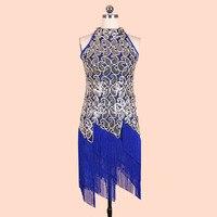 New Arrivals 2016 Women Dresses Fashion Brand Sequin Tassel Summer Blue Dress Vestidos Femininos Online Shop