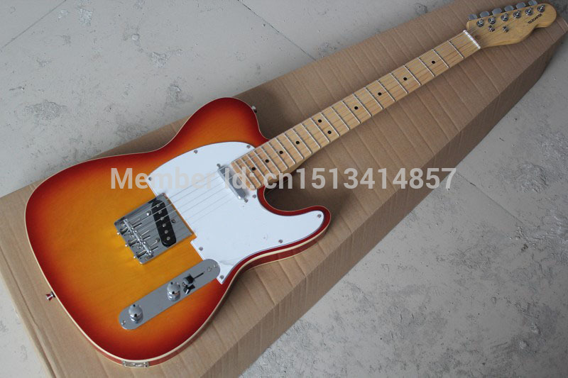 Free shipping Chinese Factory Custom Shop 2017 100% NEW  Deluxe TL guitar Cherry color electric guitar  323 free shipping chinese factory custom 2015 100