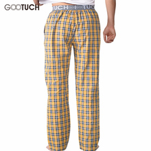 Plaid Men's Sleep Bottoms Check Pajama Pants Men Underwear Piyamas Trousers Woven Mens Lounge Pants Comfortable Pantalon  G-2505
