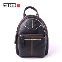 AETOO 2017 Fashion Brand Women Backpack Genuine Leather Small Backpacks For Girls Real Cowhide Leather Backpacks