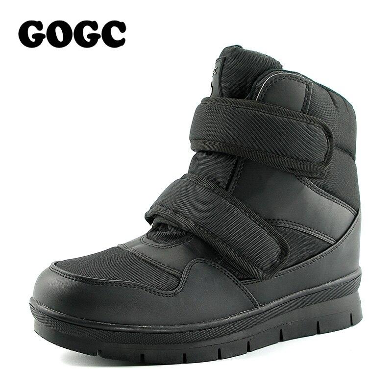 GOGC 2018 Chaud D'hiver Bottes Hommes Neige Bottes Marque Non-slip Hiver Hommes Chaussures de Haute Qualité Chaussures Hommes D'hiver cheville Bottes Plus La Taille