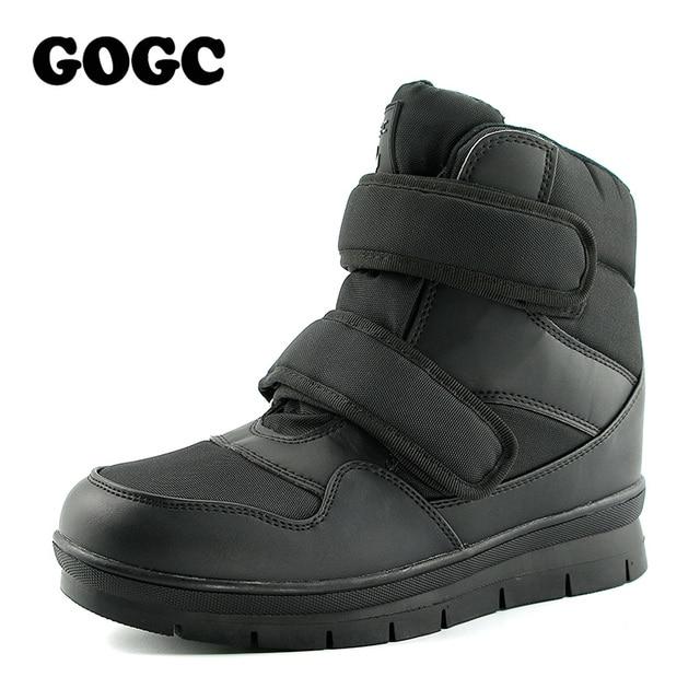 GOGC теплые Мужские зимние сапоги Снегоступы брендовая Нескользящая зимняя Мужская обувь Высокое качество Для мужчин обувь зимние ботильоны booots плюс Размеры