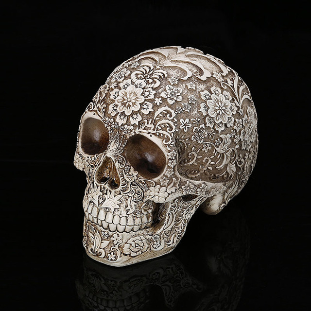 Home Decor Resin Craft Plum Blossoms Sculptures Garden Statues personality Art Carving Statue Medical Model Human Skull 4