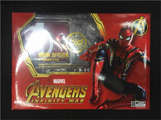 SHFiguarts Marvel Avengers Infinito Guerra Ferro 15 centímetros BJD Aranha Spiderman Super Hero Figura Brinquedos Modelo para As Crianças