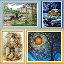 Counted Cross Stitch Kits Classial Scenery Pattern DMC Stamp