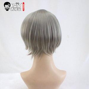 Image 3 - HSIU 새로운 고품질 스가와라 코시 코스프레 가발 Haikyuu!! 의상 가발 짧은 회색 할로윈 의상 무료 배송