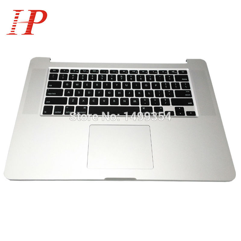 Original Palmrest For Apple Macbook A1398 15'' Top Case Palm rest  With US Keyboard And Trackpad 2013 2014 Year ME664 ME665 genuine laptop top case palmrest without keyboard for macbook pro 15 a1286 2011 2012 japan version