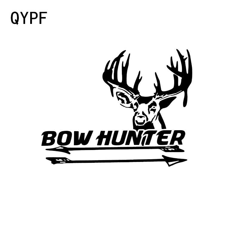 QYPF 14 1*11CM Coolest Outdoor Hunting Bow Hunter Archery Decor Vinyl Car  Stickers Accessories C16-1805