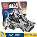 466 unids bela 05002 nuevas guerras de las galaxias de primer orden de nieve speeder película conjuntos soldados compatible con lego bloques de construcción