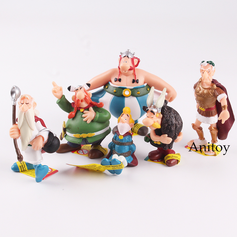 Cartoon Cute The Adventures of Asterix Action Figures Doll Toys Gifts for Childrens 6pcs/set 5~8cm