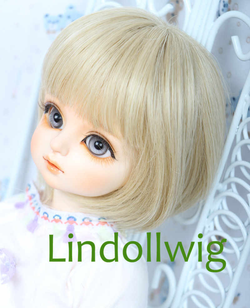 1/3 1/4 BJD парик Pullip Dal DD SD Dollfie кукла парик 7-8 8-9 дюймов короткий парик блонд 613c
