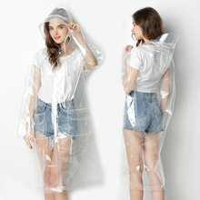 Transparent Raincoat Poncho Hood Clear Girls Waterproof Women Yuding for Fashion Unisex