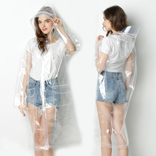 Yuding Transparent Raincoat for Women Fashion EVA Waterproof Unisex Poncho Clear Woman\gilrs\lady Rain Coat with Drawstring Hood
