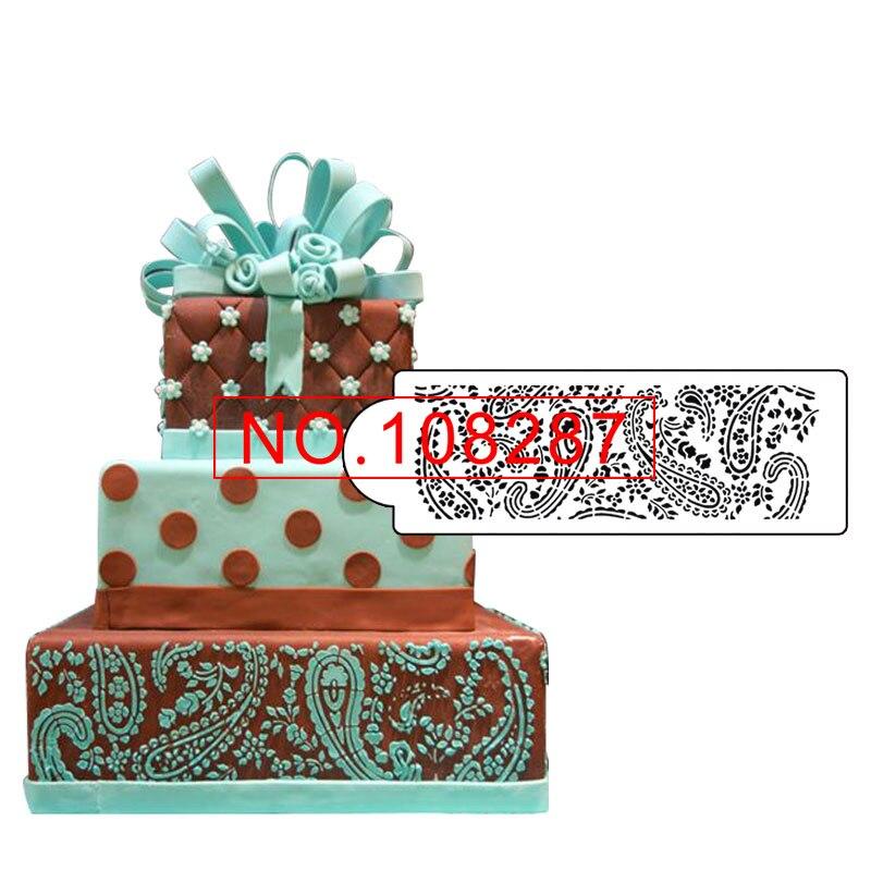 Paisley Cake Stencil Side for Wedding Cake Decoration Plastic Fondant Stencil Cake Template Mold ...