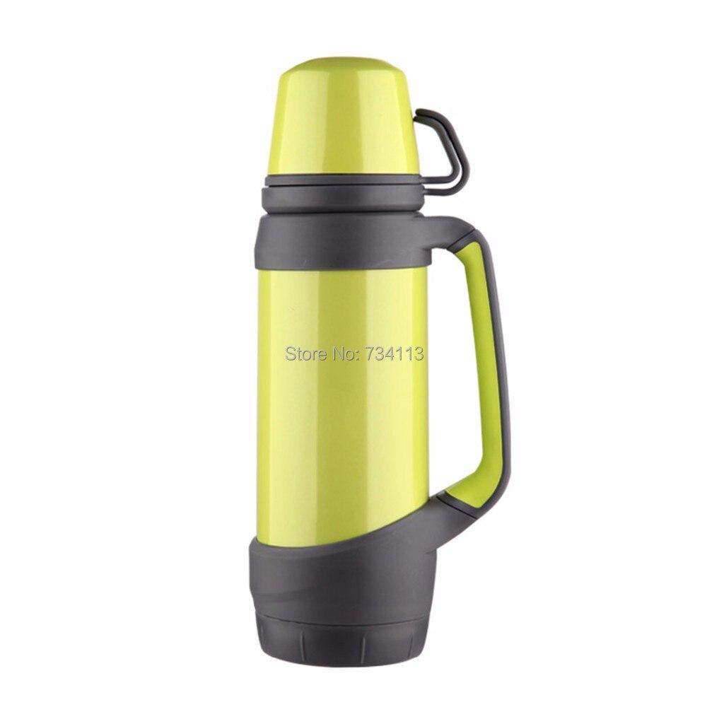 Bouilloire Portable 1L inox cruche sous vide voyageur bouteille d'eau véhicule Thermo cruche bouilloire Sport extérieur bouteille d'eau