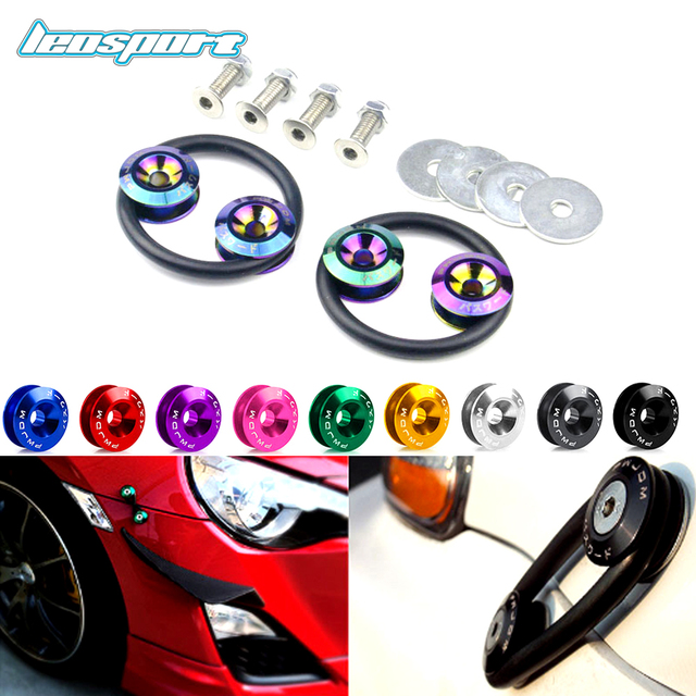 Universal JDM PASSWORD Aluminum Bumper Quick Release Fasteners Fender Washers For Honda Civic Integra
