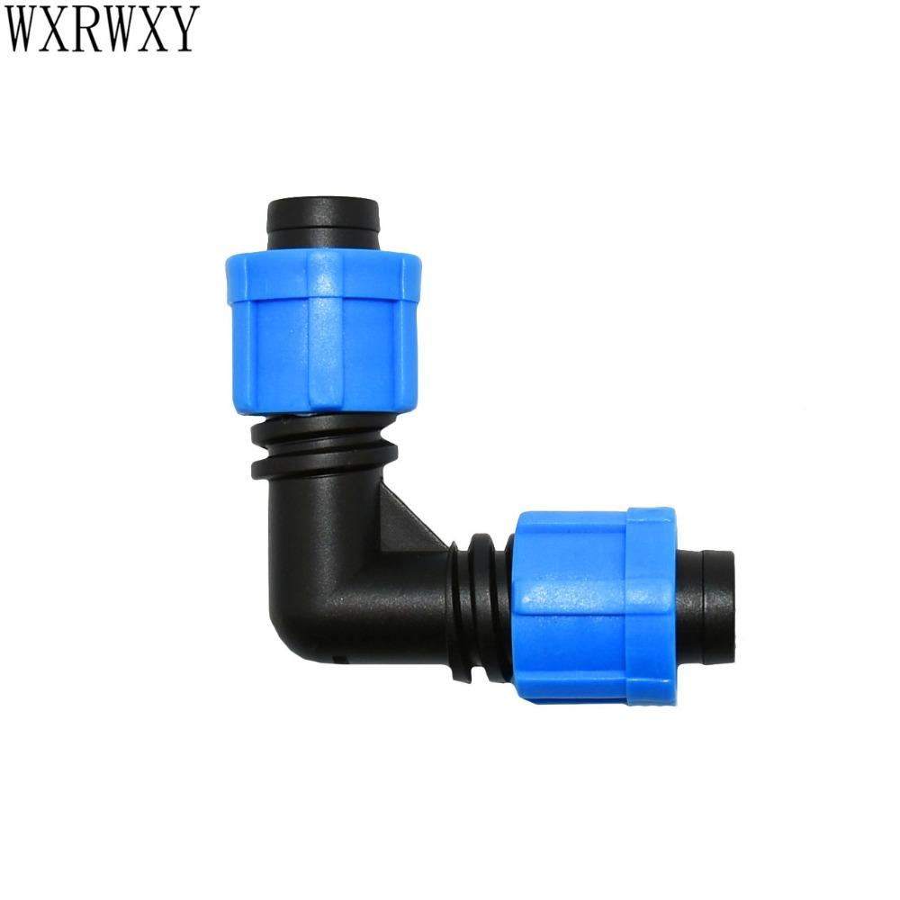 Wxrwxy Drip Tape 5/8 Elbow Barb 90 Degrees Connector Knee Thread Elbow Irrigation Hose Repair Connection Adapter 2pcs
