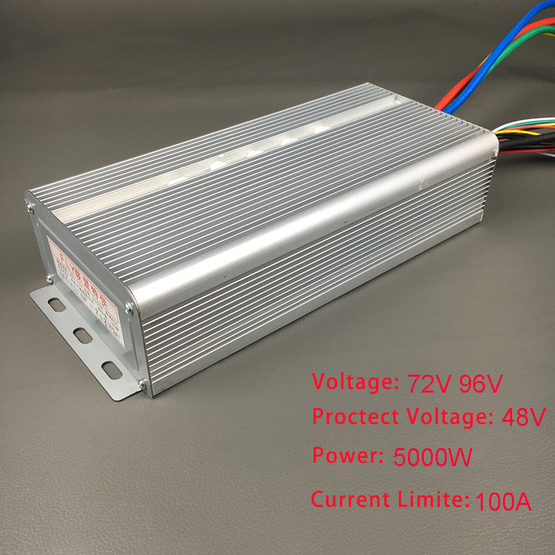 72V 96V 5000W Brushless Motor Speed Controller 100A 36Mosfet 120Degree Phase With Sensor Hall For Electric