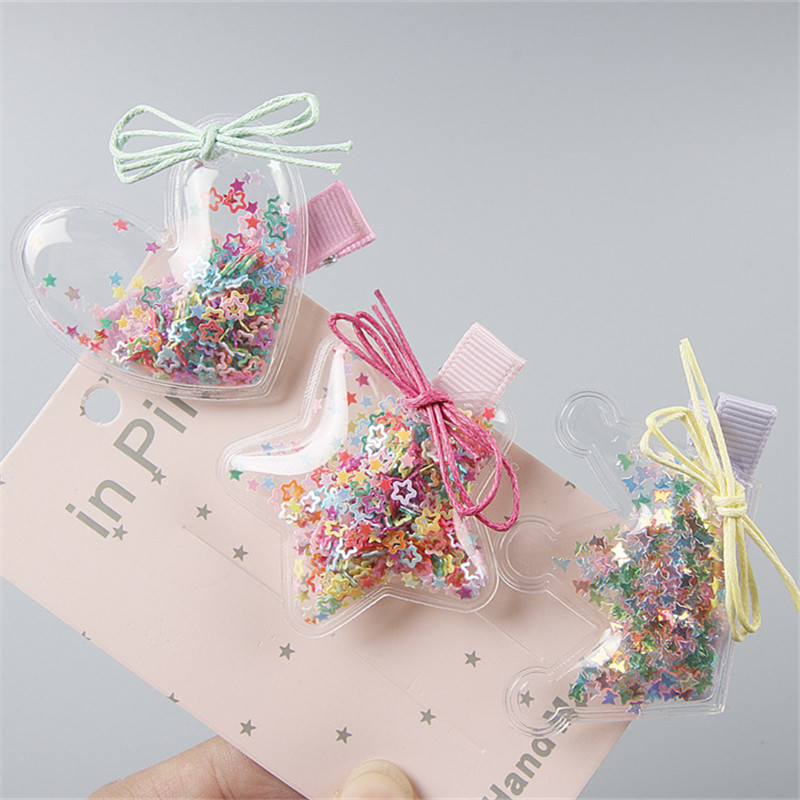 New Arrival Children Cute Bow Hair Pin Baby Girl's Lovely BB Clip Hairpins Hair Side Clips Kids Hair Accessories Tiara Infan