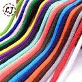Оптовая 5 мм красочные высокая прочность Ручной Тканые Хлопок Шнуры Веревки для одежды швейные Аксессуары Для Поделок дома DIY