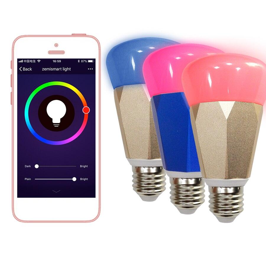Auraglow 7w Remote Control Colour Changing Led Light Bulb: Zmismart Led Bulb Dimmer 7W Wifi Smart Light Bulbs Remote