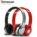 Toproad auriculares fone de ouvido fone de ouvido fones de ouvido sem fio de áudio estéreo bluetooth apoio tf fm fones de ouvido com microfone para telefones pc