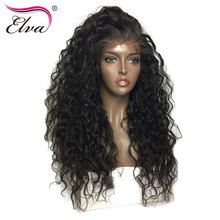 Elva Hair 250% Density 360 Lace Frontal Wigs For Black Women Pre Plucked Hairline With Baby Hair Brazilian Remy Hair Curly Wigs