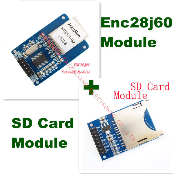 Free Shipping ENC28J60 Ethernet LAN Network Module Schematic For 51 ...