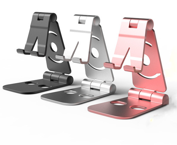 Universal Adjustable Mobile Phone Holder For IPhone Huawei Xiaomi Samsung Aluminium Alloy Phone Stand Desk Folding Stand Desktop