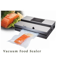 Vacuum Sealer Machine Sous Vide Inox Food Processor Vacuum Packaging Machine commercial Sealer EU/US Plug Stainless Steel Body