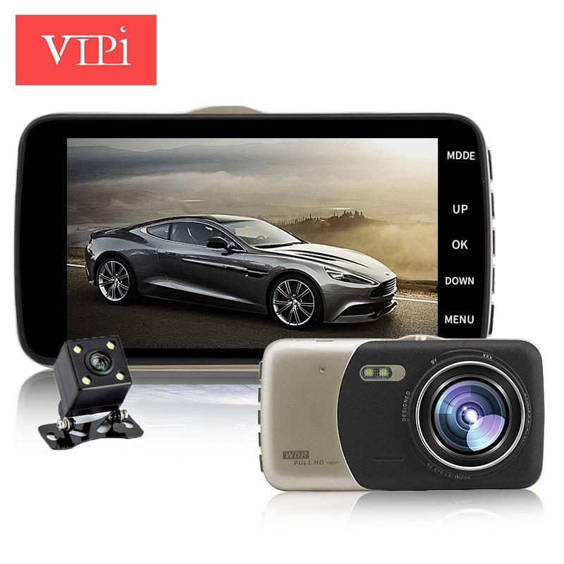 imágenes para 4.0 pulgadas IPS de doble lente de la cámara del coche cámara de vídeo dvr auto coches dvr carcam dash cam full hd 1080 p grabador de vídeo registrator de aparcamiento