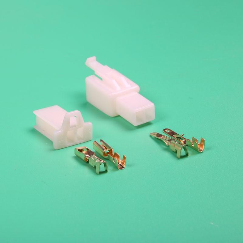 20 Sätze 2 Pin 2,8mm automotive Kabelverbinder Stecker männlich ...